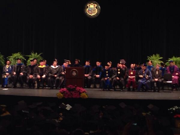 The introductions begin for SNR graduation #SNRgrad515 http://t.co/kFJkt7ByZH