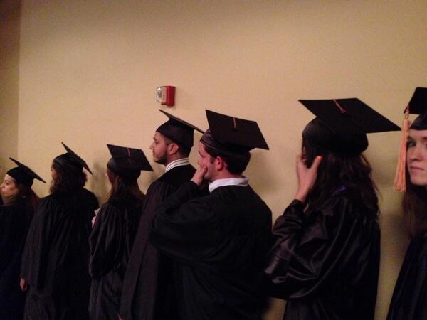 SNR students ready to walk the stage #SNRgrad514 http://t.co/3yG5kEgGpv