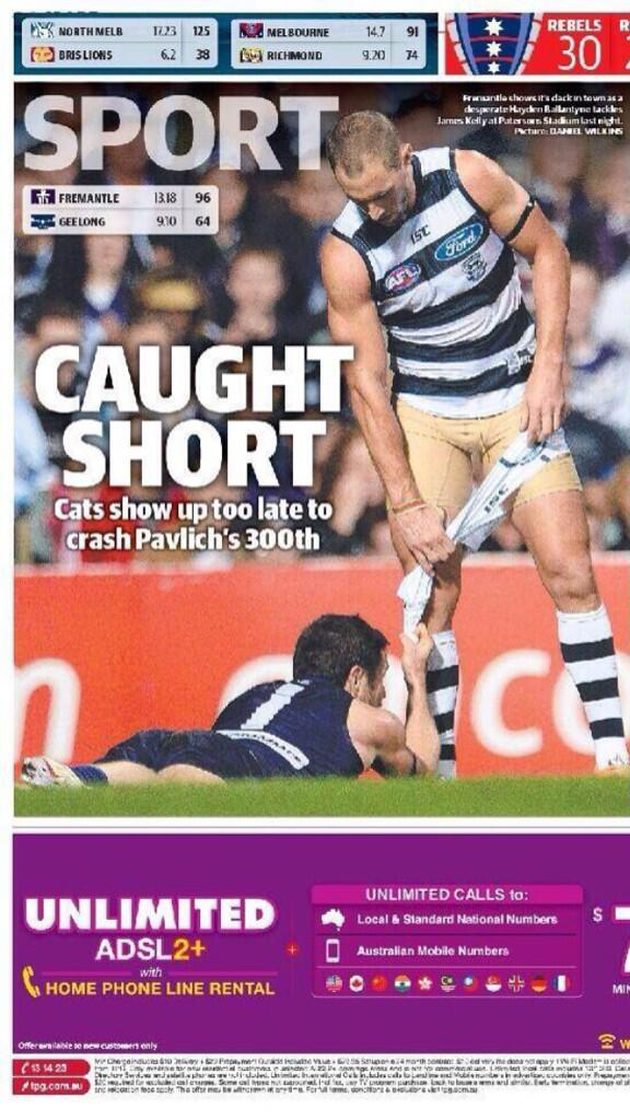 Great weekend,Dees have a good win an then @JamesPopsKelly provides me with this newspaper gem.It is a game of inches http://t.co/gA6ZmXui9A