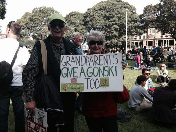 At Sydney #MarchInMay grandparents give a Gonski http://t.co/2YehhhDfRi
