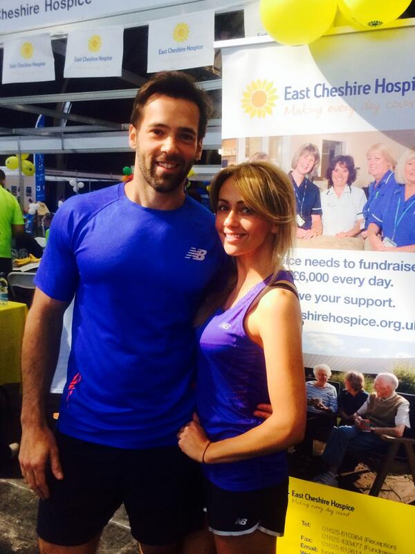 Me and @realsamia all ready for the #MCR10K for @ECHospice thanks to @NewBalanceUK @AdGreen3 for our running gear!