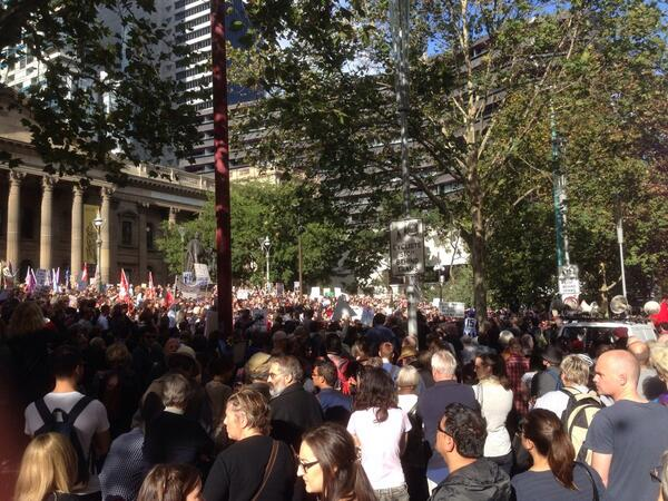 15k and growing at #marchinmay melb. Proud and hopeful. And ready to fight! #bustthebudget http://t.co/jvAP2lTC42