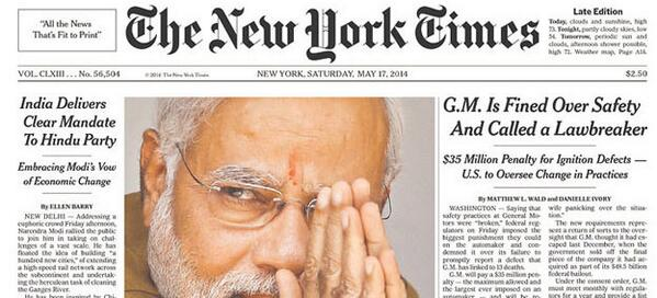 25 world newspaper front pages with Narendra Modi and BJP's victory headlines http://t.co/FPPa7AksIK http://t.co/DrHf1s8qRr