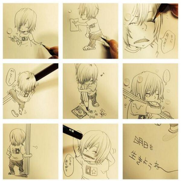 悲しいことがあって泣きながら鬼龍院さんを描いてたら鉛筆を貸して欲しいと言われた pic.twitter.com/m1pnzxsAfd
