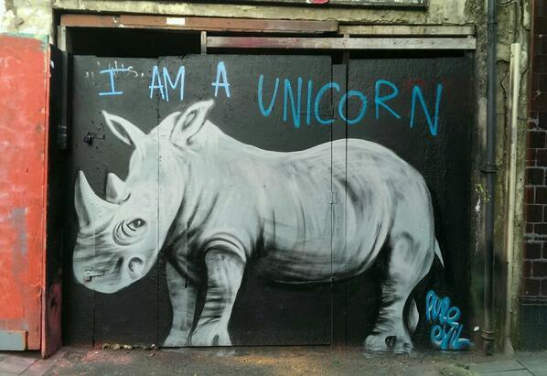 """I am a Unicorn."" #streetart #graffiti http://t.co/V9l2oO5jMo"