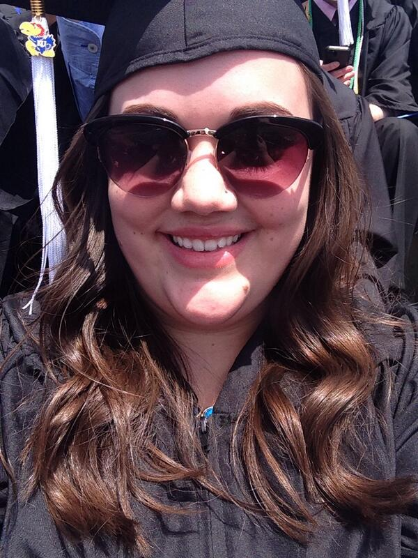 So...I'm OFFICIALLY a college graduate!!! And this is my first, Bernie-ordered, selfie! #KUgrads http://t.co/Grhbewxae6
