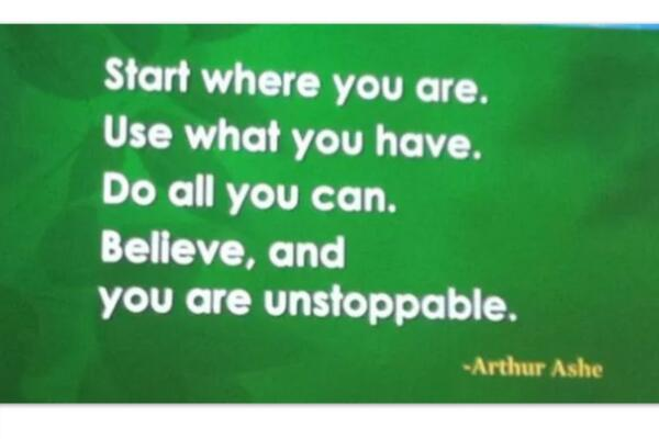 Wright Thurston On Twitter You Are Unstoppable Arthurashe