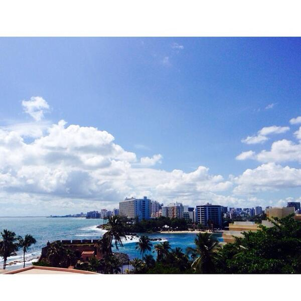 not a bad view at all to wake up to #SanJuan