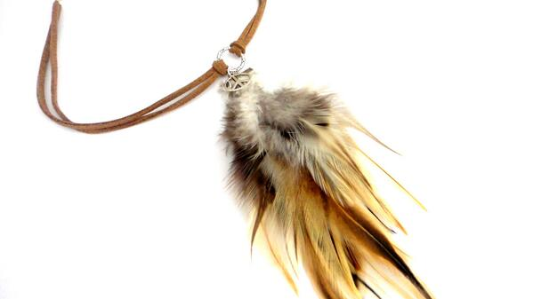 Grizzly Feather Suede Choker Necklace, Shaman Style Festival Jewellery #LadiesCoffeeHour #fpsbs #kprs http://t.co/vqYtypLTio