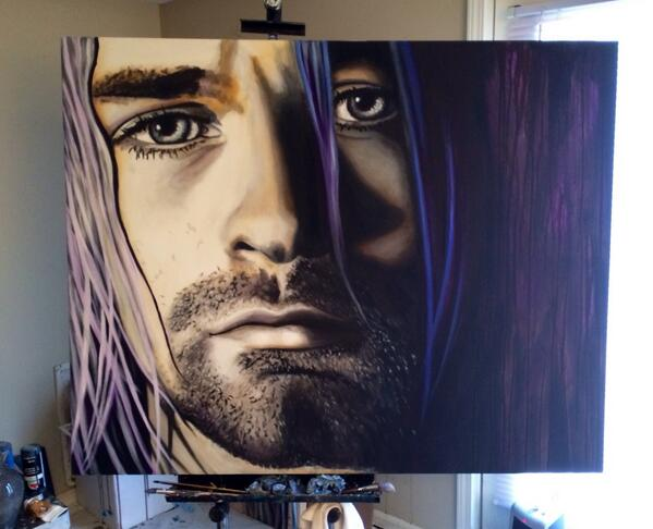 Work in progress... #KurtCobain #art http://t.co/76LHY4Qxql