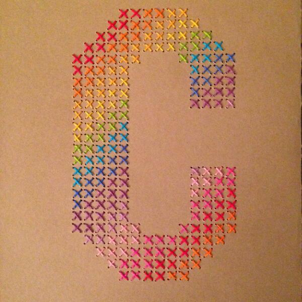 .@bezierswerve Check out my colorful, cross-stitched C. #myletterhalf http://t.co/3yw9A8d2nc