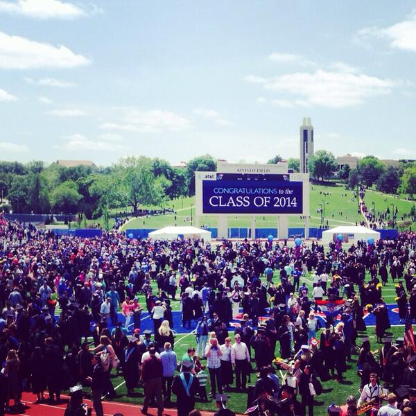 Beautiful day for a graduation. #KUgrads http://t.co/bI5OQswVcW