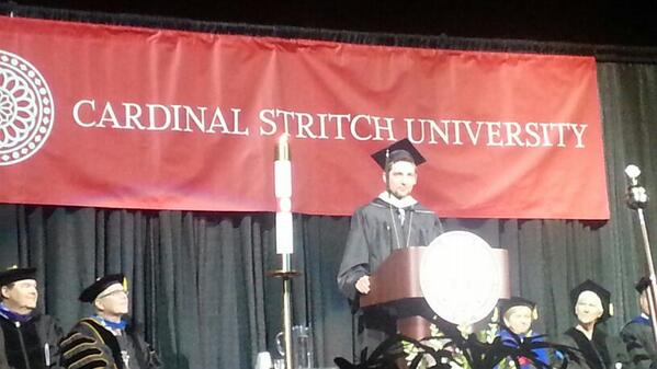 Just the @stritchu #commencement speaker, no big deal. #stritch14 #thatsmybro #congratsgratuates w/ @blondieaf http://t.co/pco0YubO9V