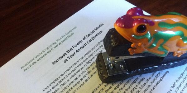My frog & I are working hard to create great #socialmedia handouts for the #amp14 pre-conference tomorrow! http://t.co/x3sGUwQbm7