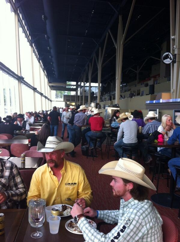 Ended up in a room full of cowboys- rodeo finalists event in Cloverdale w/ @barinderRasode http://t.co/CV6bILrBRn