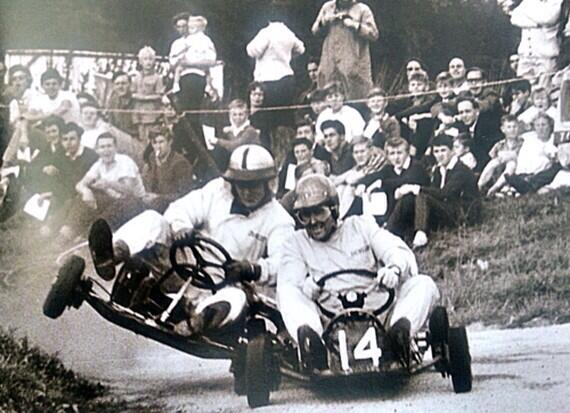 Off-track friends, on-track foes, our founder Bruce McLaren & the great Jack Brabham. #JackBrabhamRIP http://t.co/qPgzpDZu9D