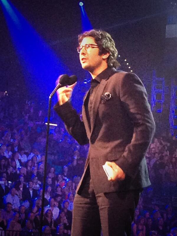 Great pic! Thx! :) RT @NoshGirls: Yes @joshgroban is just as adorable in person... #BBMAs http://t.co/Pkj1kEikpK