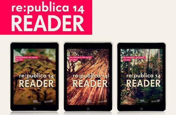 Der #rp14 READER von Tag 1 ist da! http://t.co/AqxRUuZXth Bis 14 Uhr könnt ihr den #rp14rdr kostenlos herunterladen! http://t.co/bRZ4Hhnomo