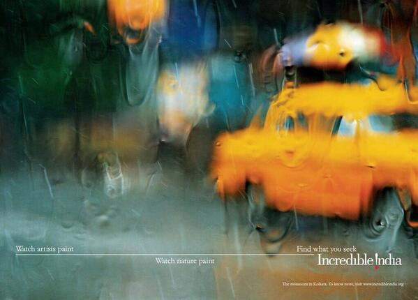 One of those heart melting, mind reeling, deep sighing moments. This Incredible India ad. Monsoon, in Calcutta. http://t.co/Xo3Sjis7Ss