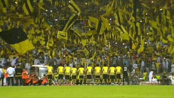 #ACL2014 | @Alittihad_Saudi fans were out in force last night as their side defeated @AlShababFC 1-0! http://t.co/coIQL3iXHt