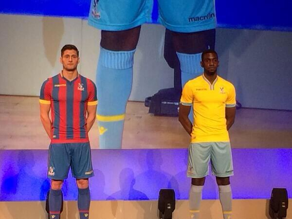 REVEALED: Crystal Palace unveil their new 2014 15 home & away kits [Pictures]