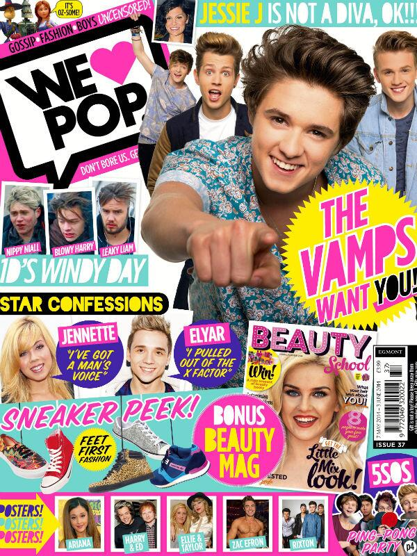 Oh Heeeeeeyyyyyy y'all. BTW the new  @WeLovePopMag issue is OUT TODAY with the beaut @TheVampsband on the cover! http://t.co/KvC5Z74SvI