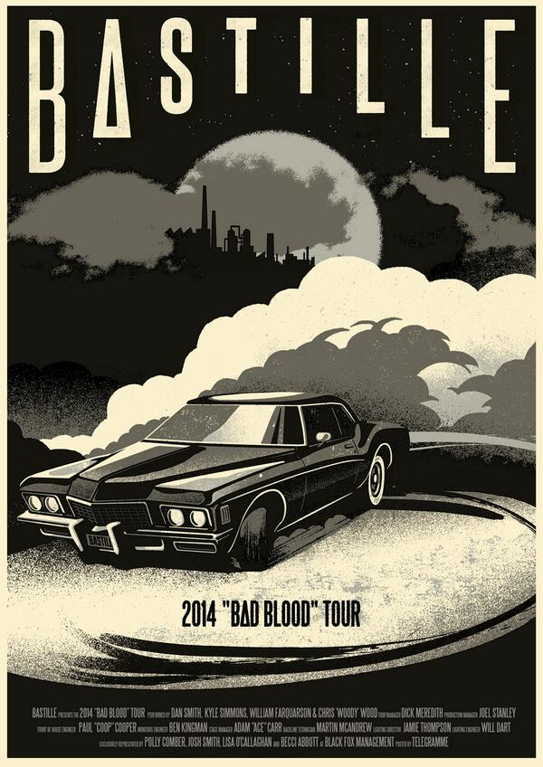 Our New @bastilledan poster - coming to a show near you soon! http://t.co/t6Vqe9uCfx http://t.co/5SnAIQqkNF