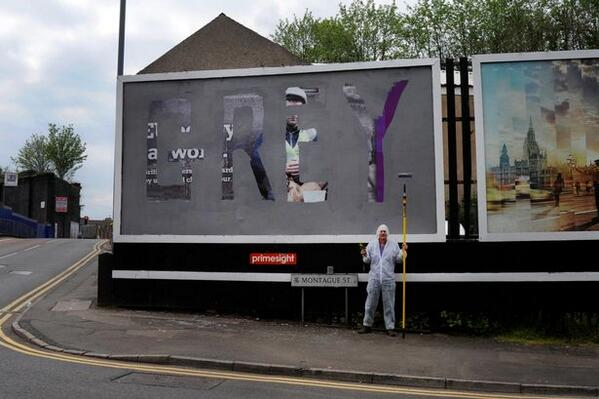 Bill Drummond: Why I covered a UKIP poster in Birmingham with my International Grey http://t.co/KMXAlXtmxD @eprjcts http://t.co/tgbFqwybFo