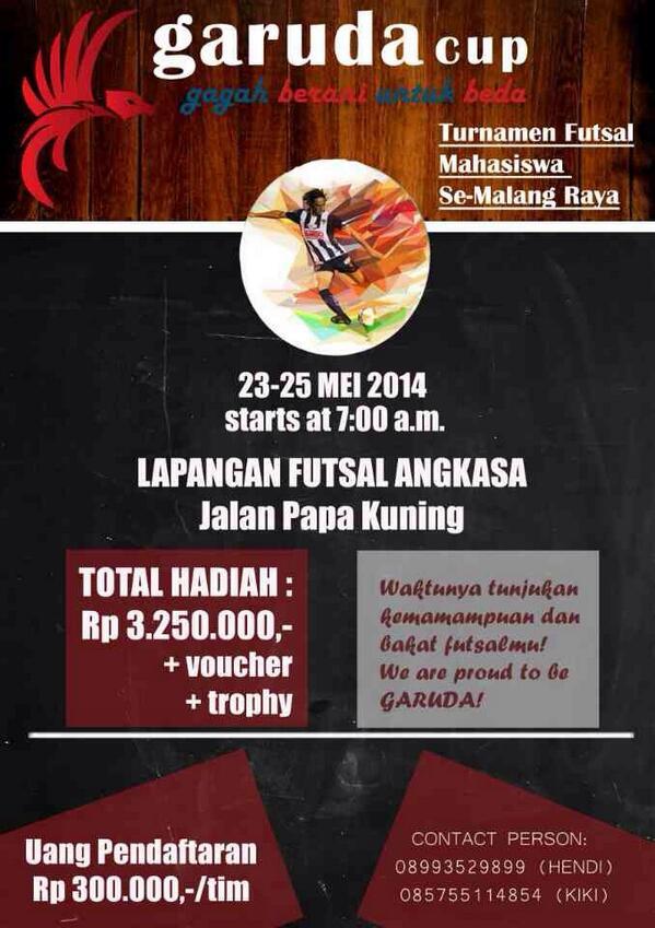 Garuda Cup 2014 On Twitter Garuda Cup Turnamen Futsal 23 25 Mei