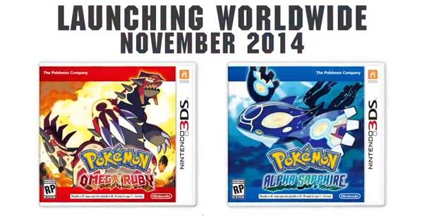 Wild Pokemon Ruby and Sapphire remakes for 3DS appear! Out in November http://t.co/mFbVxpWzGD | http://t.co/GgoJkbnta2
