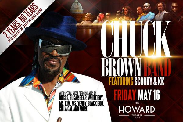May 16 marks 2 years since we lost the Godfather.  The Chuck Brown Band will be crankin in his honor @HowardTheatre http://t.co/SOEtUvaDvR