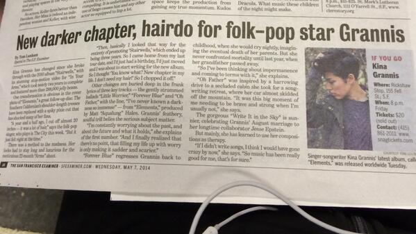 @kinagrannis look who I found this morning in the paper! http://t.co/tOXPepjPQK