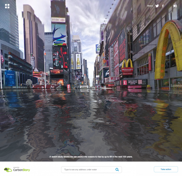 Google Maps integration shows how our world will look if sea levels rise: http://t.co/n51Ezt49uz http://t.co/bV6u5tVy3Y