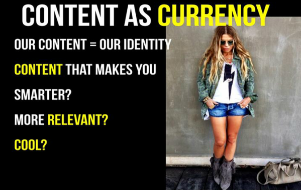 Content is an extension of our identity. People WANT to consume AND share content. #VocusWebinar http://t.co/GRF5M7Tgy1