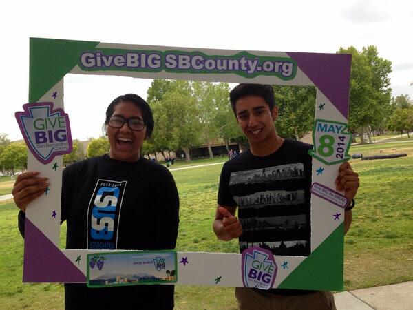 Cal state students give BIG! @ASI_CSUSB @givebigsbcounty http://t.co/hJ17StQcw9