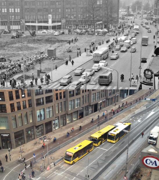 """There's no space for dedicated cycling infrastructure here, this isn't the Netherlands."" > Utrecht, 1961 vs 2014 http://t.co/pKGZY3t1wb"