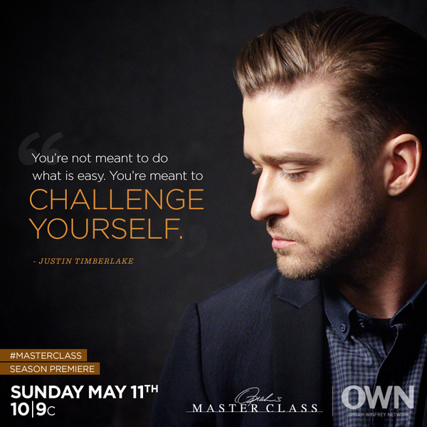 .@JTimberlake is kicking off the new season of #MasterClass, this Sunday 10|9c. Retweet if you'll be tuning in. http://t.co/gLJeBPkM33