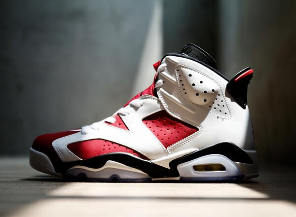 "The #AirJordan 6 ""Carmine"" is a classic look in the #ChicagoBulls colorway. Drops May 24. #KTB http://t.co/o6jHx81CkN"