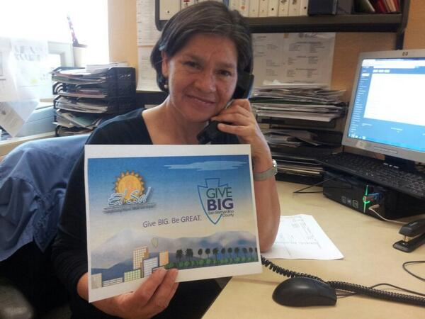 Lupita making calls for #ElSol in our @givebigsbcounty campaign. Donate here http://t.co/aSF9nkx9yV http://t.co/9dvPAhpvFz