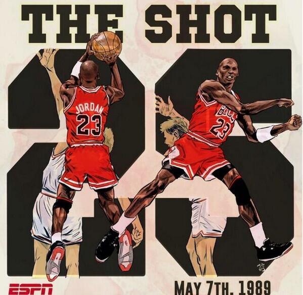It's been 25 years since Michael Jordan hit that unforgettable shot. http://t.co/hl4GQpKjZv