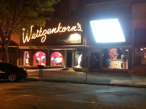 Mark Weitzenkorn:  when he was growing up, #Pottstown had 10 men's stores. Now they are last store standing. 150 yrs http://t.co/qibIjCCUK5