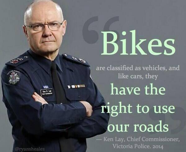 Spoken like a fair cop. #cycling #sharetheroad http://t.co/OsWYChvwwE