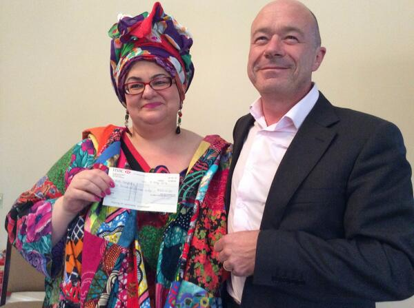 6 children will soon have beds of their own. Cloud Direct's @BrettRaynes with Camila Batmanghelidjh of @KidsCompanyUK http://t.co/o9Orc76Vn0