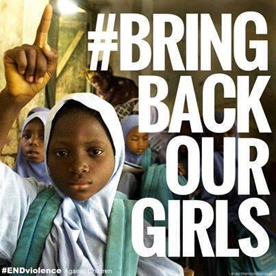 Nuestros corazones están con las familias de las niñas secuestradas en #Nigeria #BringBackOurGirls http://t.co/6dxiAsbU1N