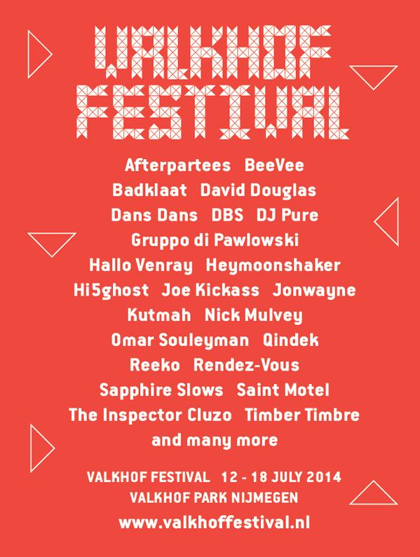 Weer een reeks mooie namen voor Valkhof Festival 2014! #vf14 http://t.co/JJ11Izkttb http://t.co/fsxe3Bj5ej