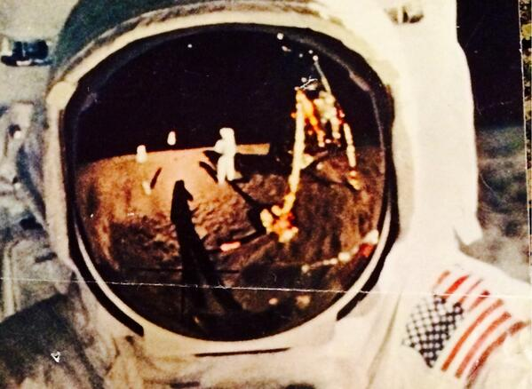 Neil Armstrong Moon Selfie (page 4) - Pics about space