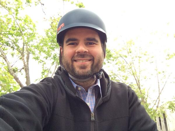 #Bike2Berk day is not complete without the obligatory helmet selfie! #BikeToWork http://t.co/ji73qOaNZP