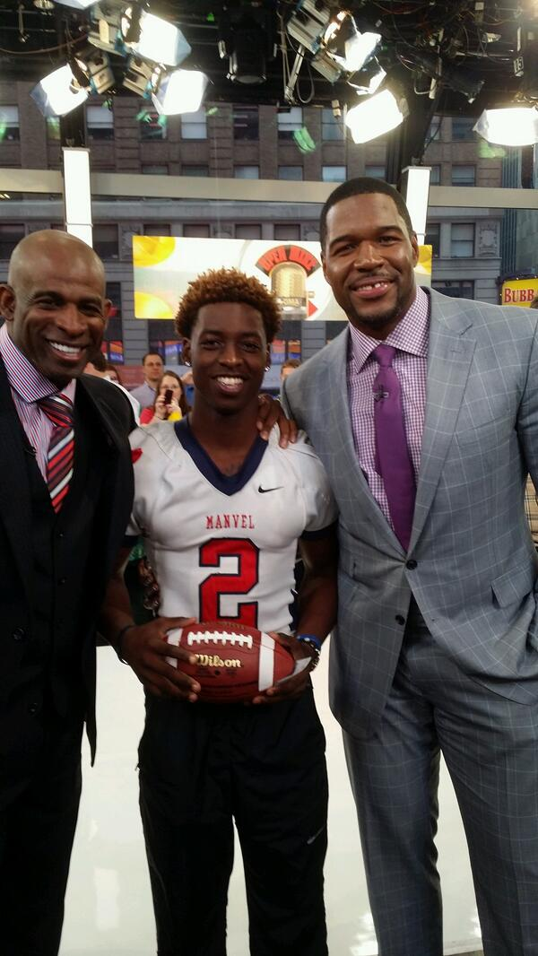 SMAC takeover @gma RT @DeionSanders @michaelstrahan Gary Haynes  of Manvel High on GMA. http://t.co/QYC2aX0tQD""