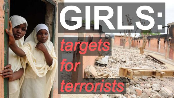 From Syria to Uganda, Pakistan to Nigeria, girls are targets for terrorists http://t.co/RtpQB0QEWV #BringBackOurGirls http://t.co/yd777L38u5