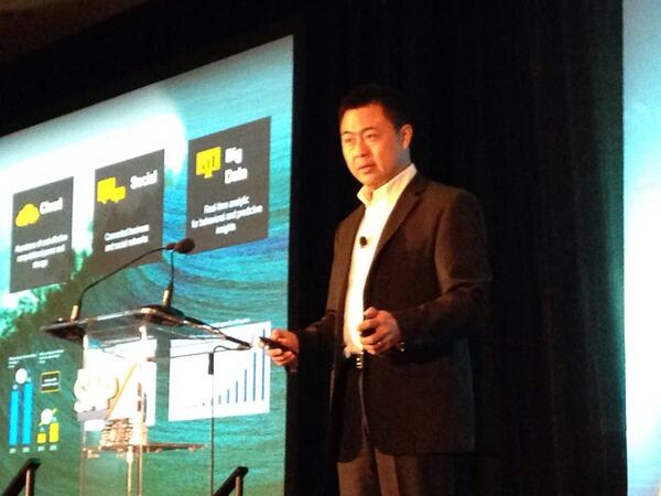 """Mary Coppard on Twitter: """"Robert Chu - head of #SAPB1 development on stage talking about SAP's success. """"Because we lead."""